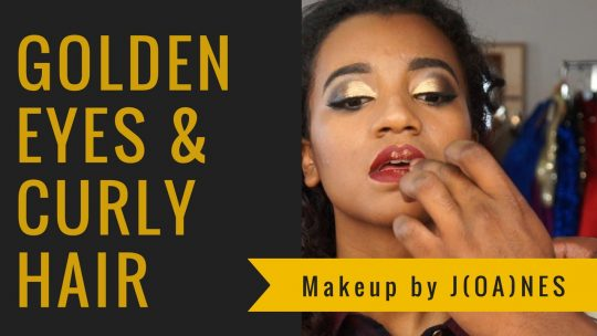 MakeUp Vidéo : Golden Eyes and Curly Hair